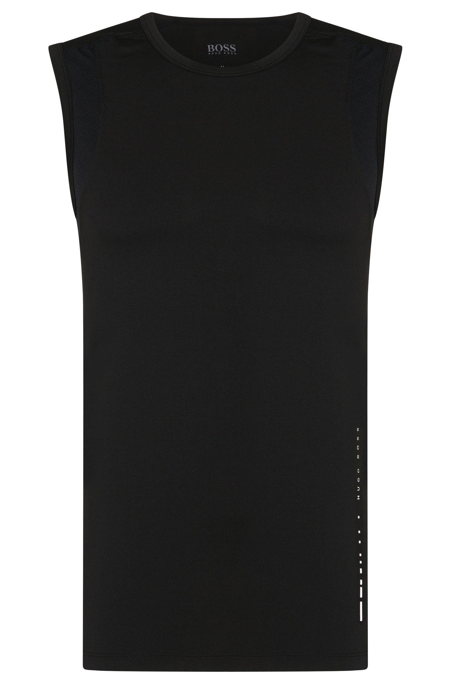 Camiseta sin mangas en tejido técnico elástico