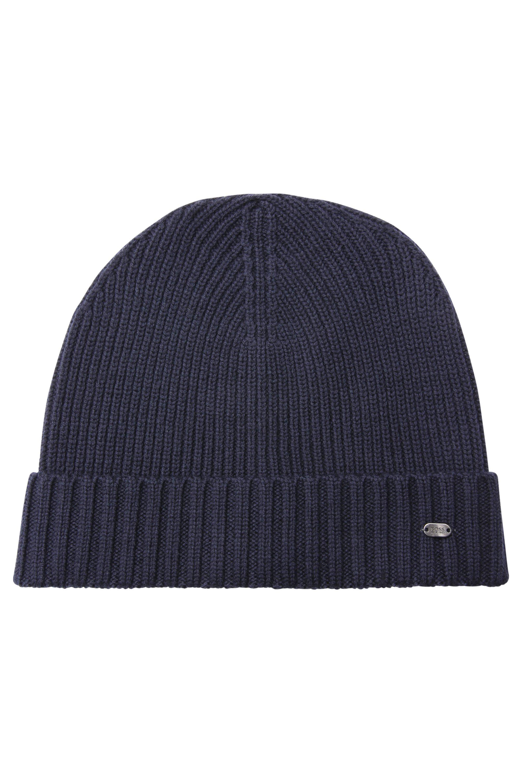 Mütze aus Schurwolle, Dunkelblau