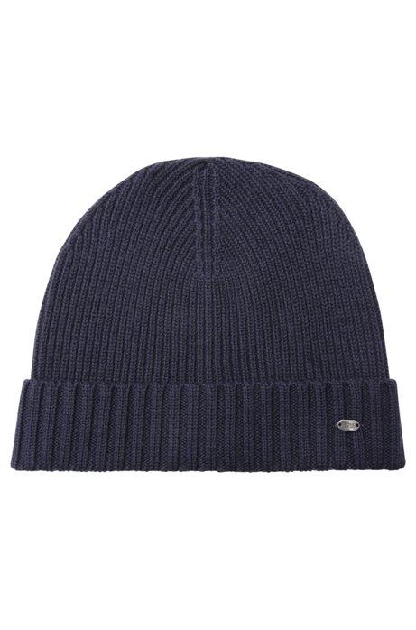 a4bc84d4374 BOSS - Beanie hat in virgin wool