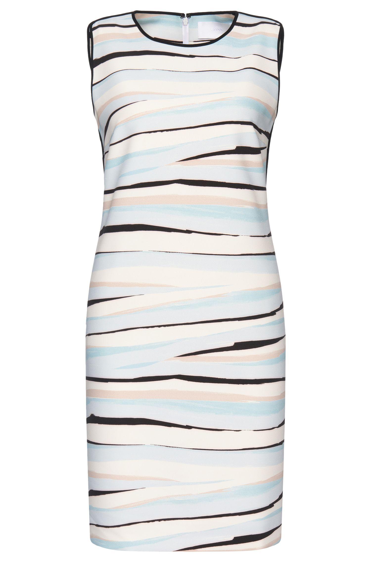 Ärmelloses Kleid mit Linien-Muster: 'Dipinta'