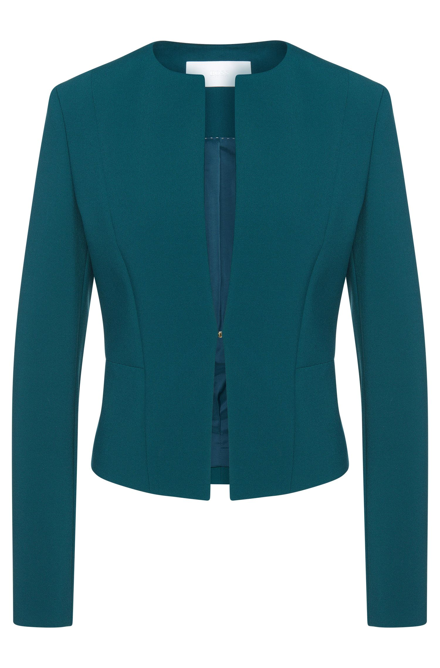 Fitted short blazer with hook fastening: 'Jency'