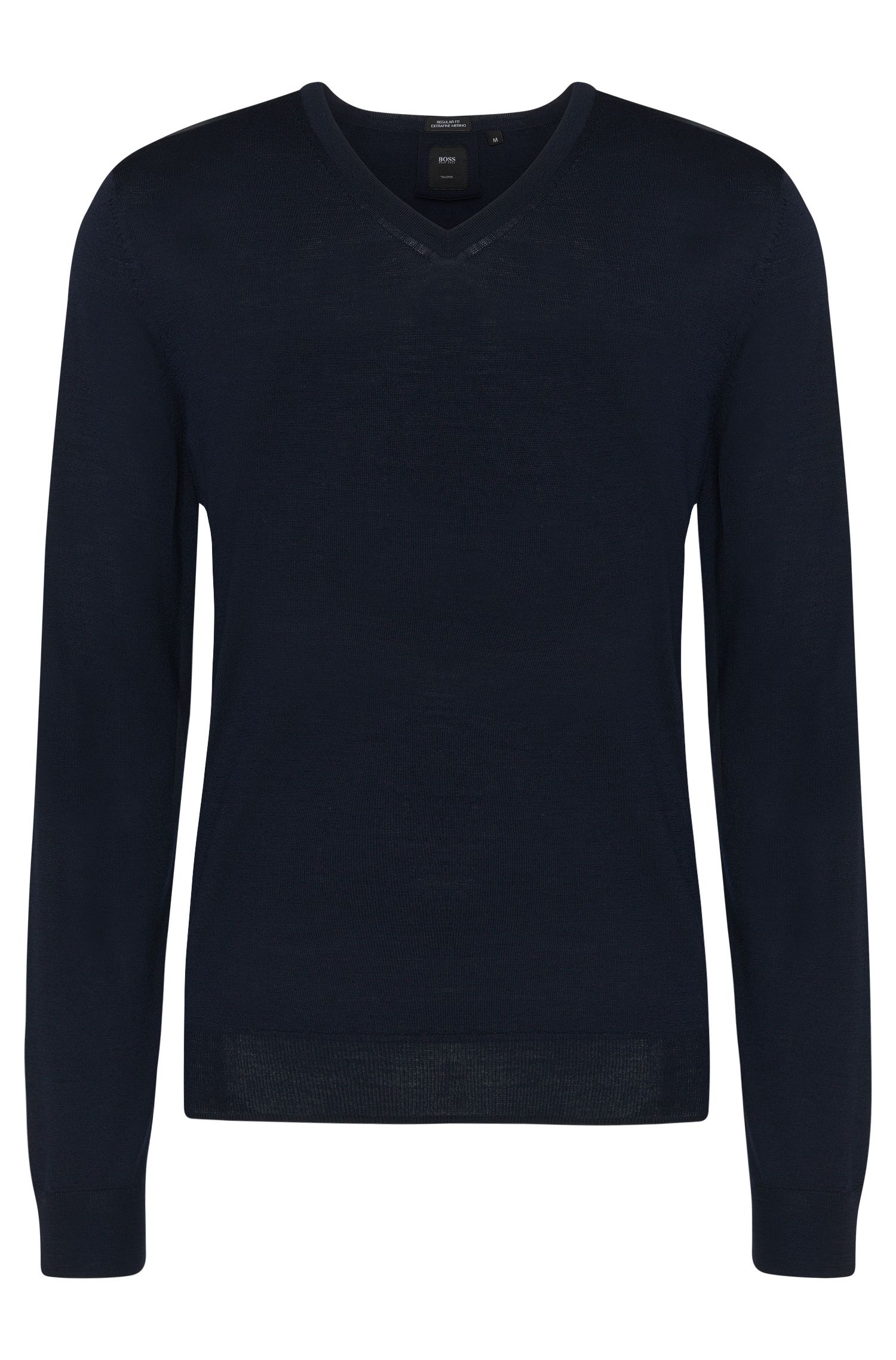 Pull Regular Fit Tailored en laine vierge : « T-Bodo »