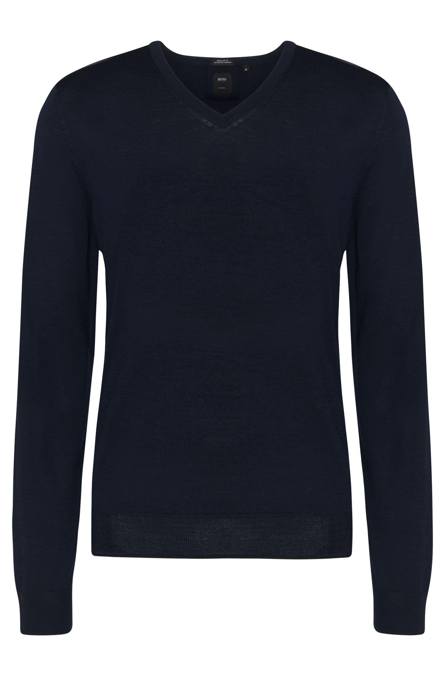 Jersey regular fit de sastrería en lana virgen: 'T-Bodo'