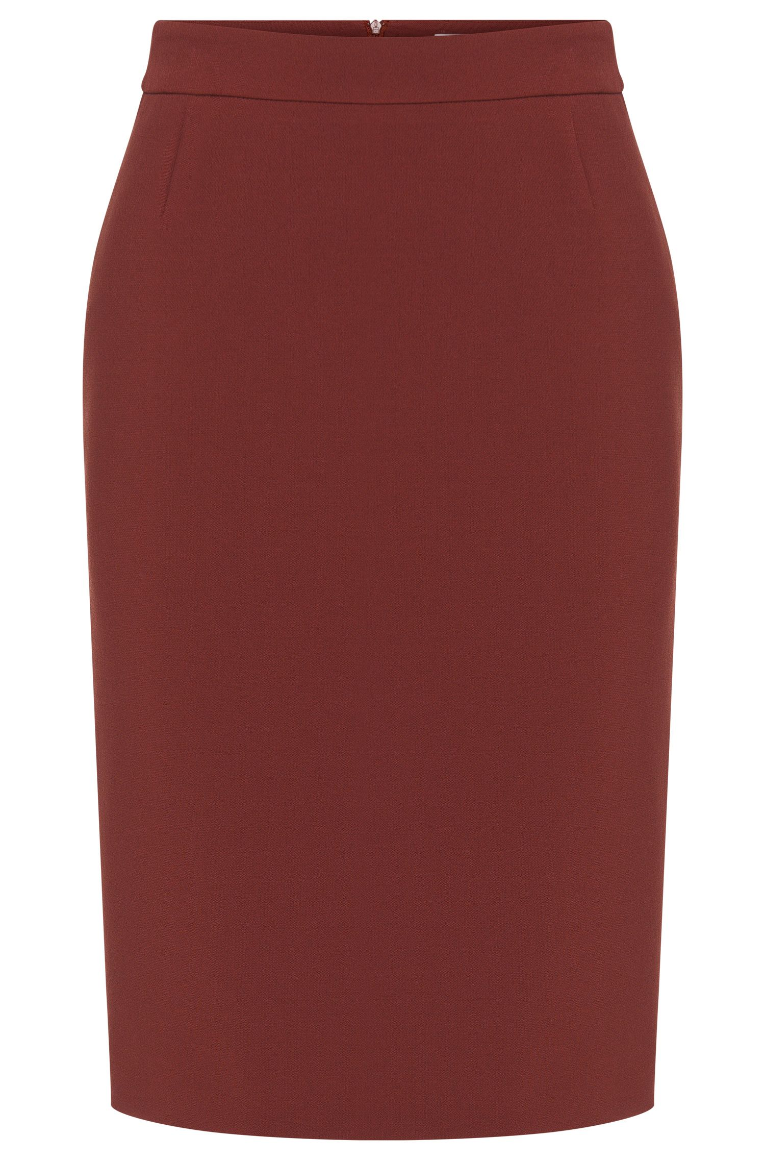 Plain skirt with back slit: 'Vilea1'
