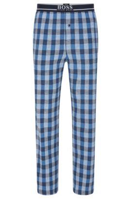 Karierte Pyjama-Hose aus elastischer Baumwolle: 'Long Pant EW', Blau