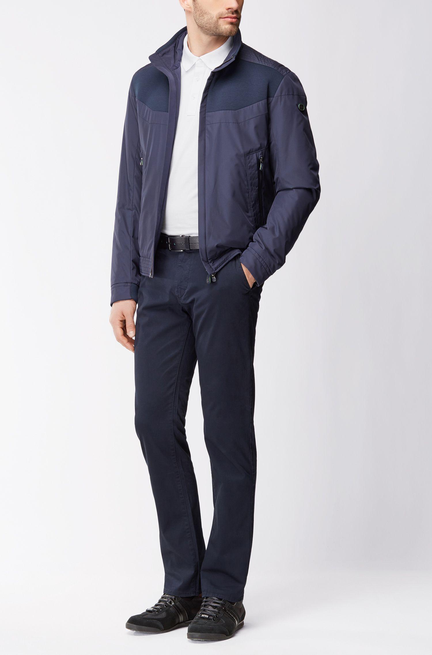Regular-Fit Poloshirt aus Baumwolle mit kontrastierenden Details