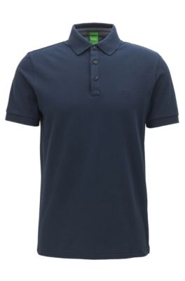 Regular-fit polo met contrastdetails van Oxfordkatoen, Donkerblauw