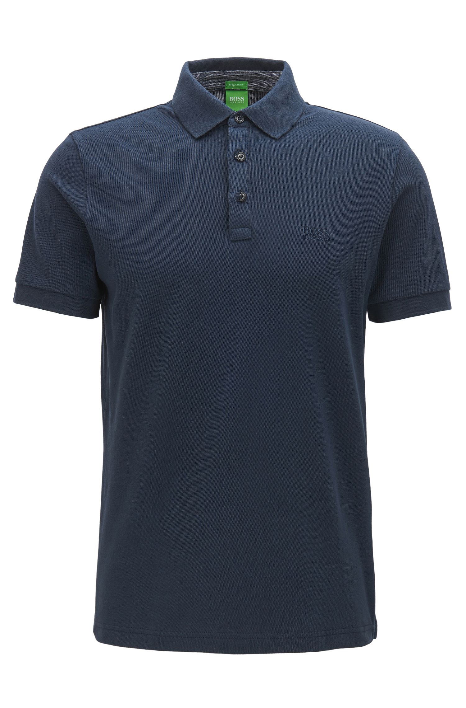 Polo regular fit con dettagli in cotone Oxford a contrasto