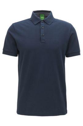 Polo Regular Fit rehaussé de détails contrastants en coton Oxford, Bleu foncé