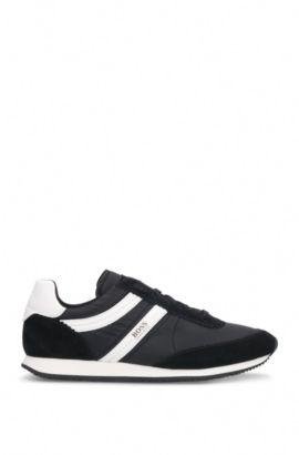 Sneakers aus einem Material-Mix mit Leder und Textil: ´Adrenal_Runn_ny`, Schwarz
