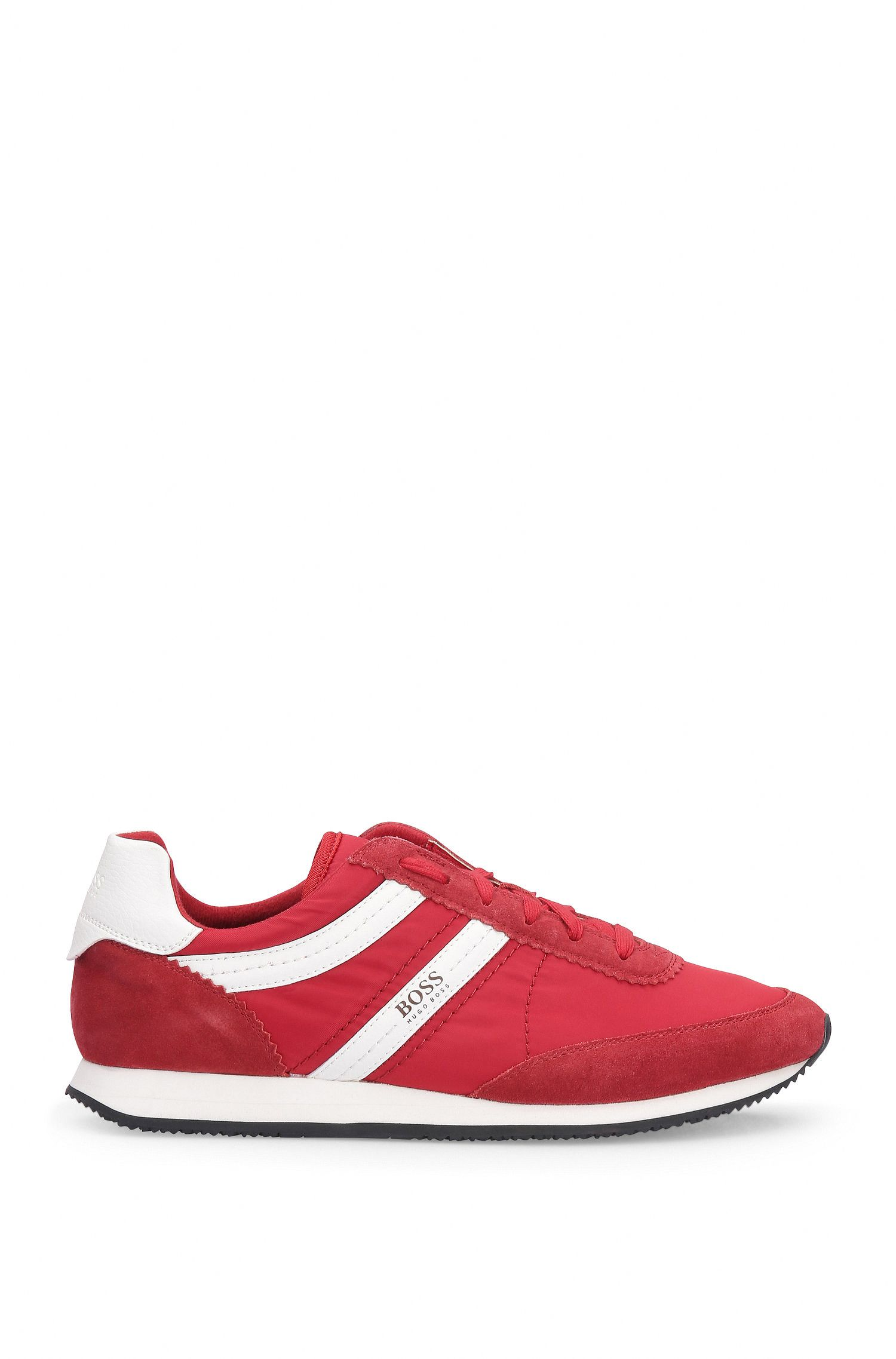 Sneakers van een materiaalmix met leer en textiel: 'Adrenal_Runn_ny'