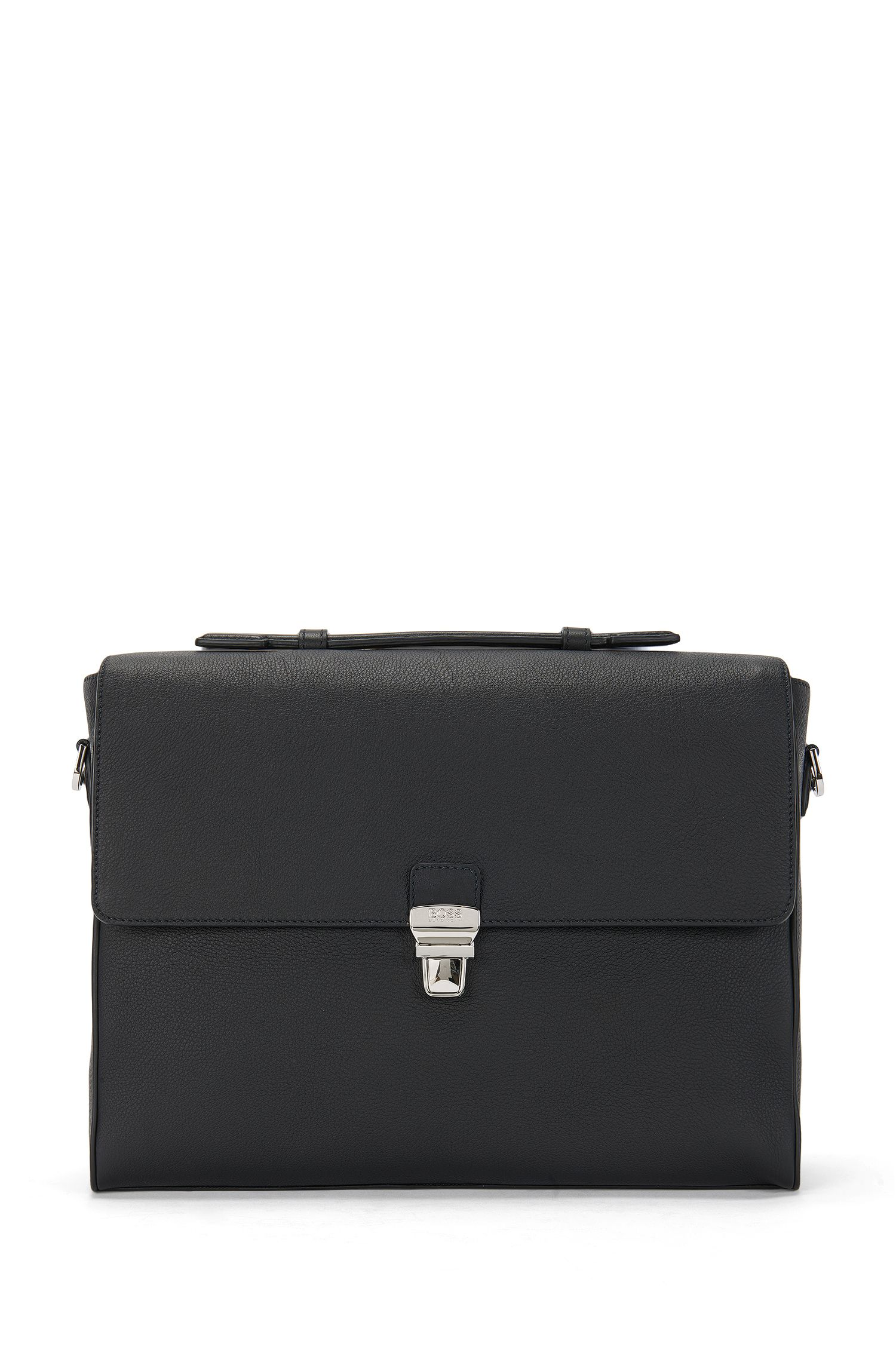 Document case in grained Italian leather