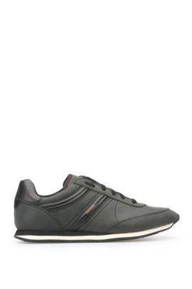 Sneakers aus gewachstem Leder: ´Adrenal_Runn_pp`, Schwarz