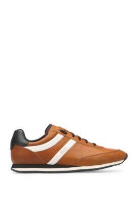 Sneakers in pelle cerata: 'Adrenal_Runn_pp', Marrone