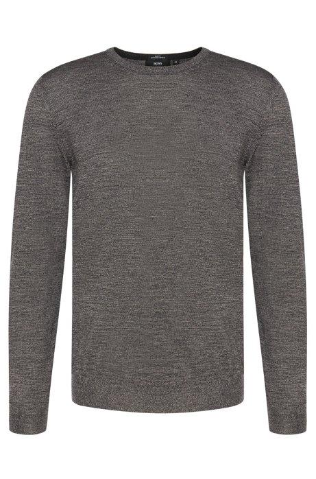 b1084c7e66e BOSS - Slim-fit sweater in pure new wool: 'Leno-B'