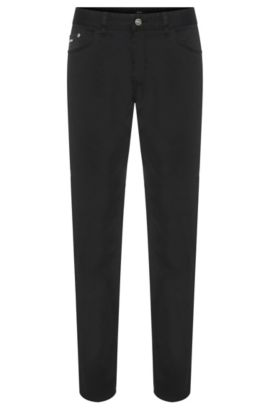 Jeans Regular Fit en coton stretch : « Maine3-20 », Noir