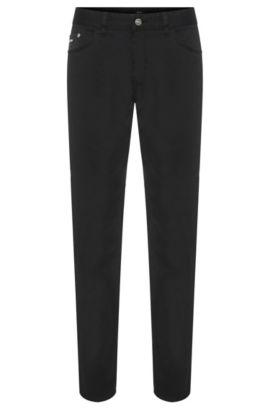 Jeans Regular Fit en coton stretch: «Maine3-20», Noir