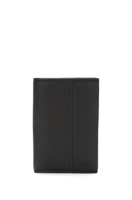 best loved 08a41 7f561 Vertical-format card case in embossed leather: 'Traveller_Bifold'