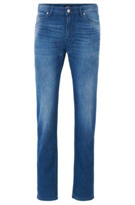 Jeans Regular Fit en denim stretch, Bleu