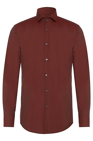 Slim-fit shirt in cotton: 'Jason', Red