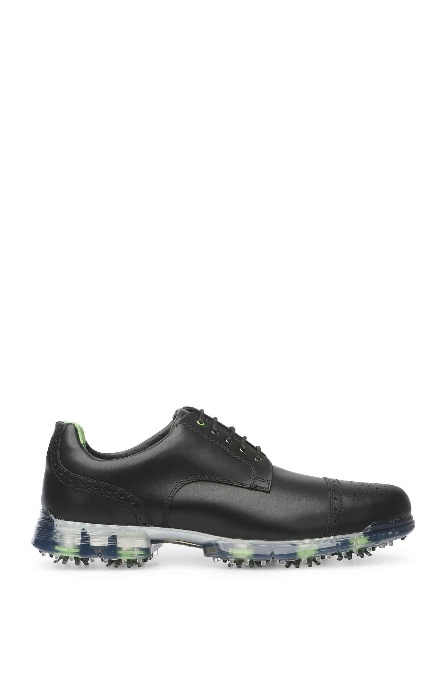 Zapatos de golf en piel con brocado: 'Golfpro_Golf_ltct'