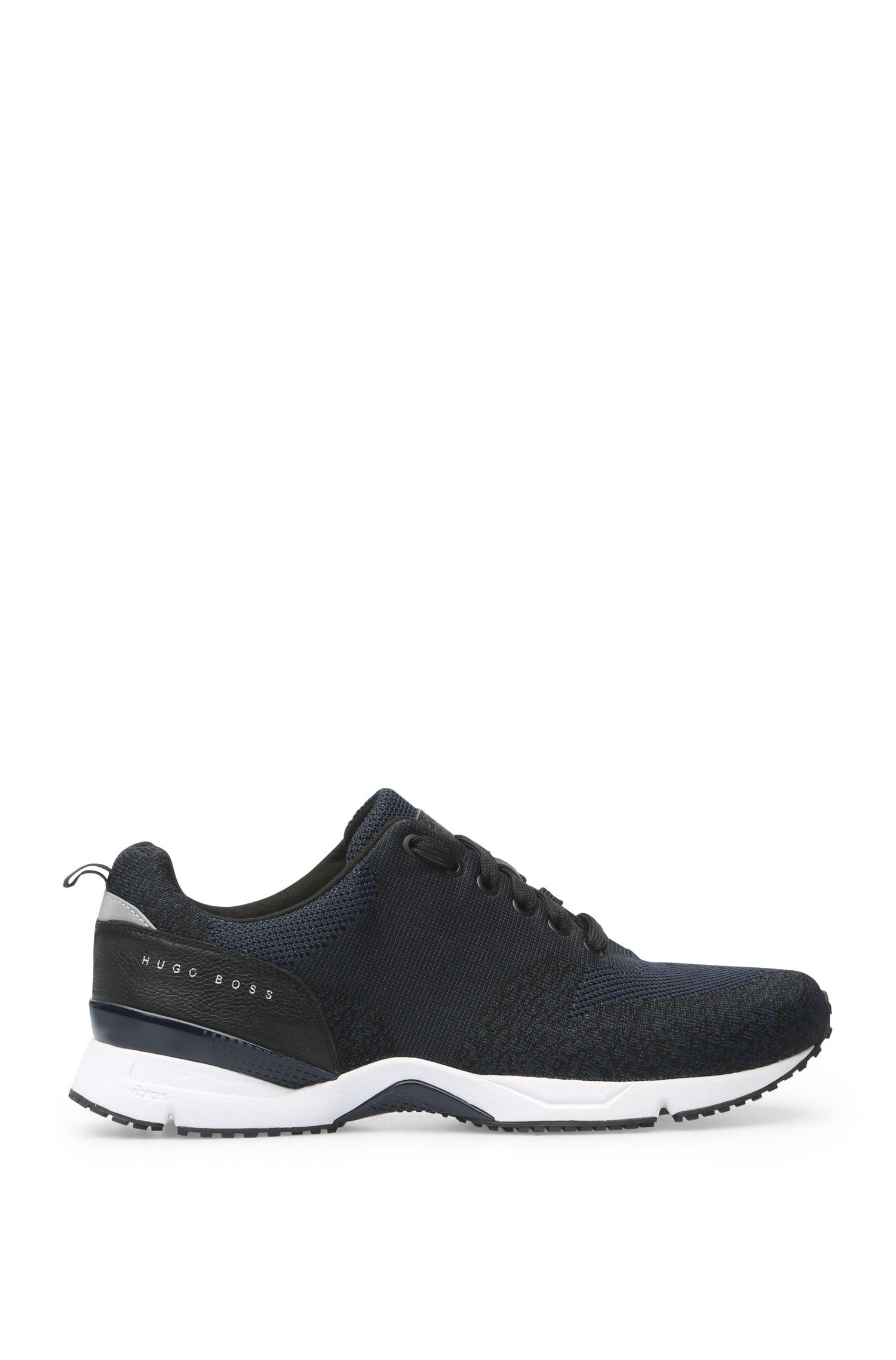 Sneakers in tessuto in maglia e pelle: 'Velocity_Runn_sykn'