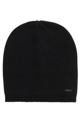 Mütze aus softem Kaschmir , Schwarz