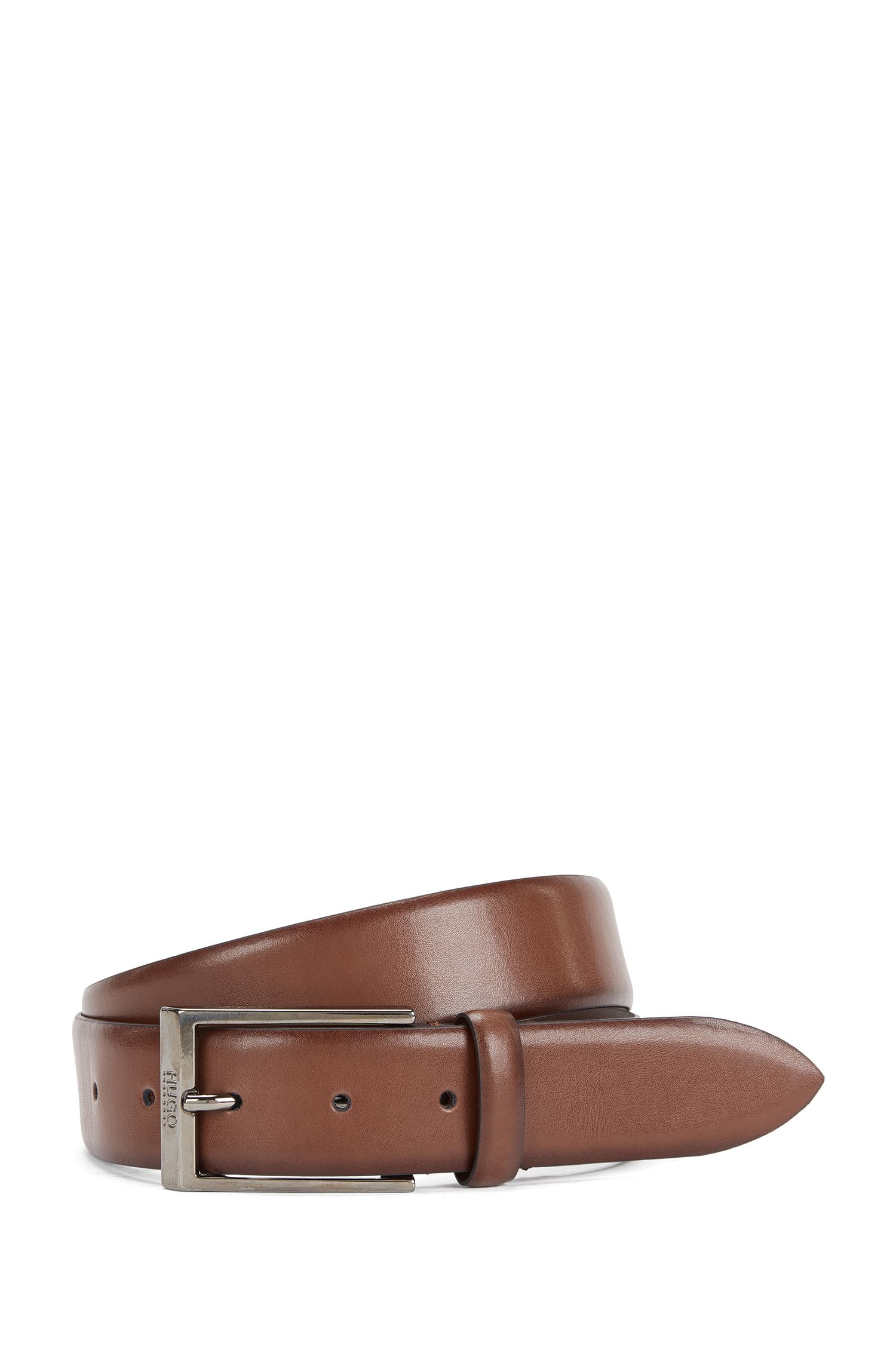 Belt in smooth leather: 'C-Gamal_Sz35_ltpl'