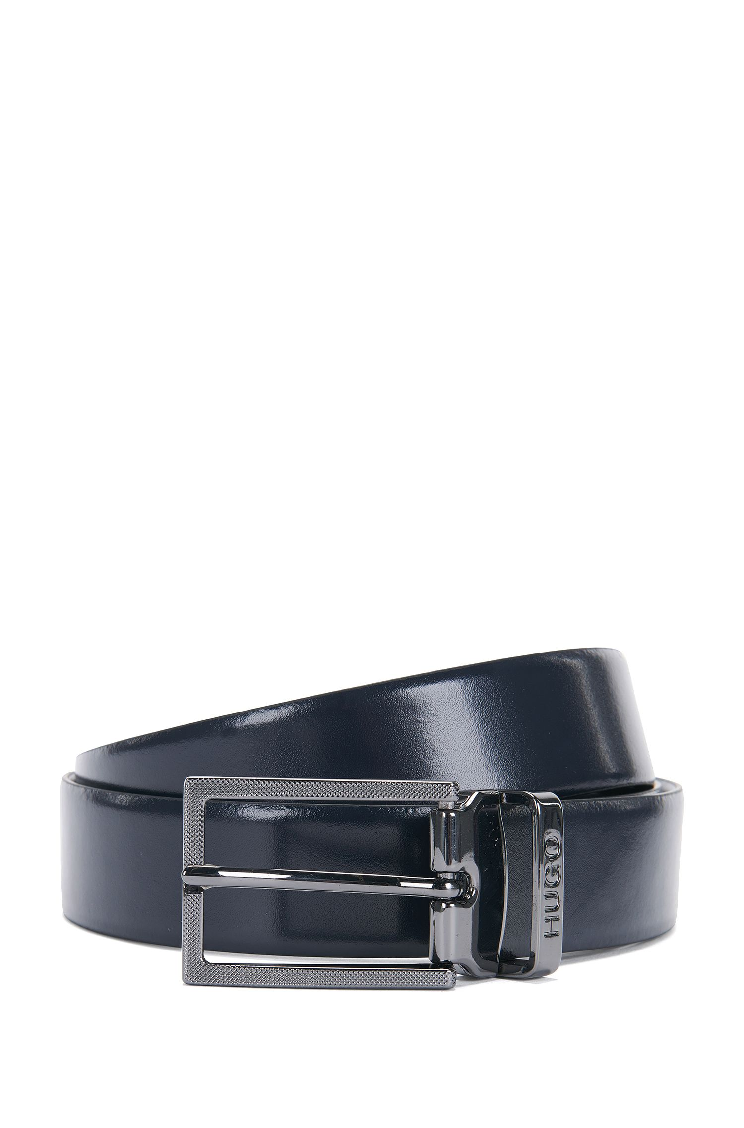Reversible leather belt with exchangeable buckle: 'C-Gair_Gb30_pp'