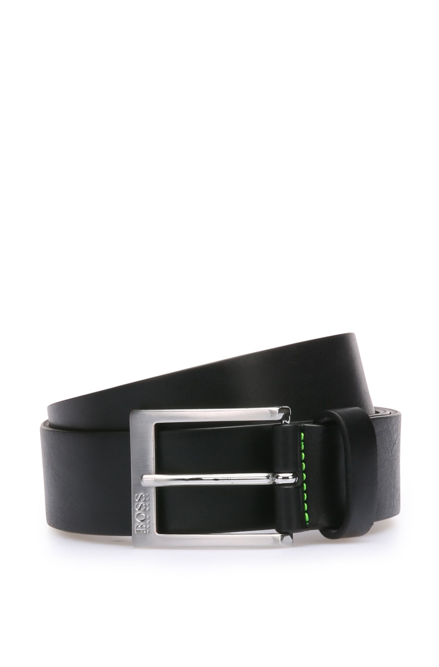 Belt in grained leather: 'Tex_Sz35_ltgr'