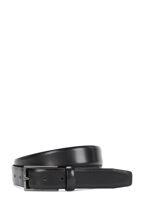 Leather belt: 'Ganticus_Sz30_ltpl', Black