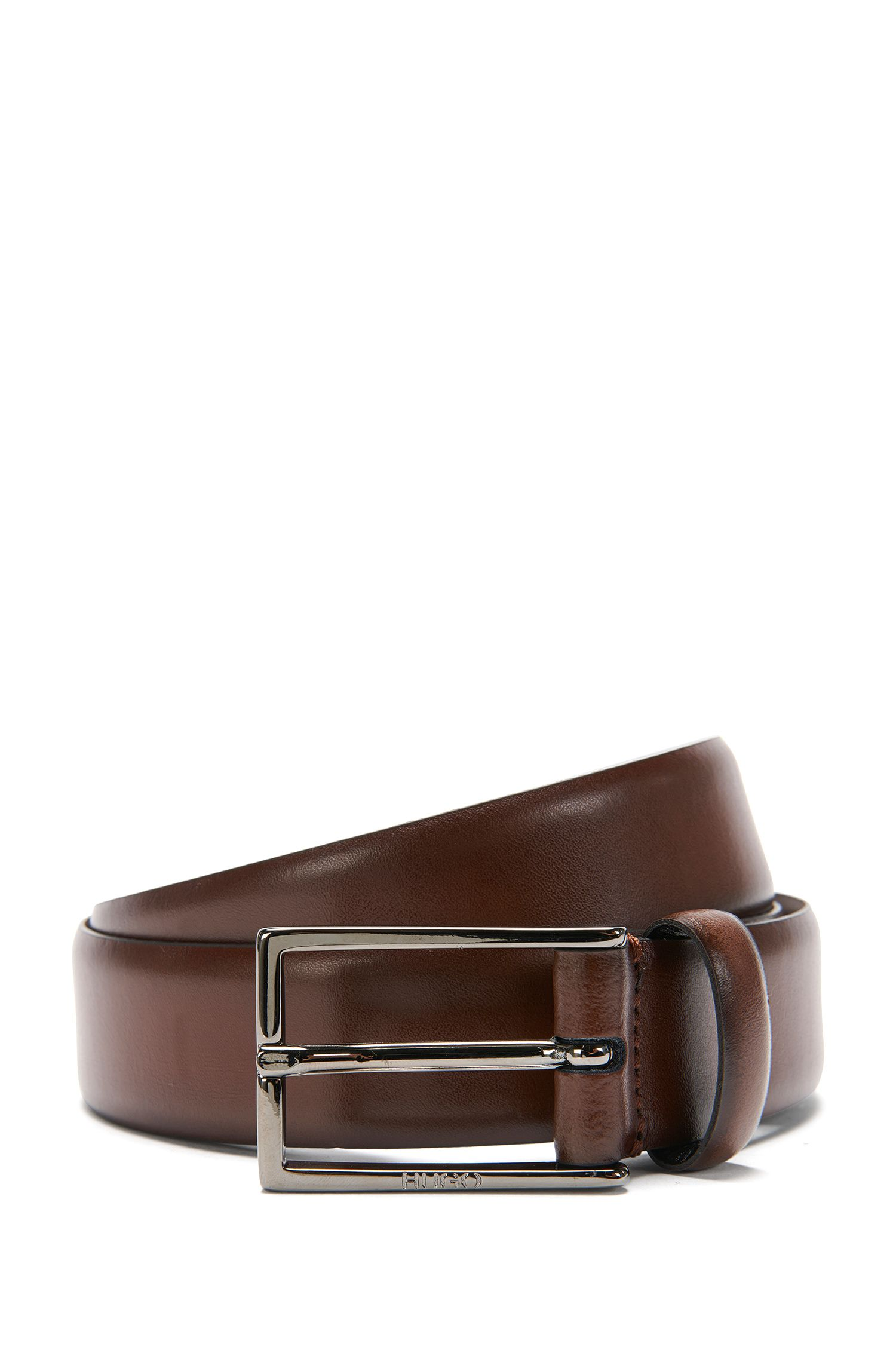 Leather belt: 'Ganticus_Sz30_ltpl', Brown