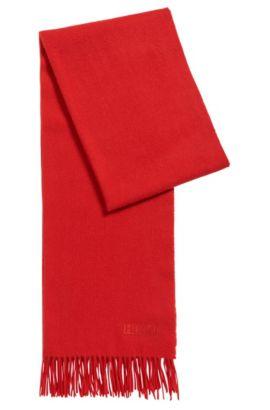 Lichte sjaal van geborstelde wol , Rood
