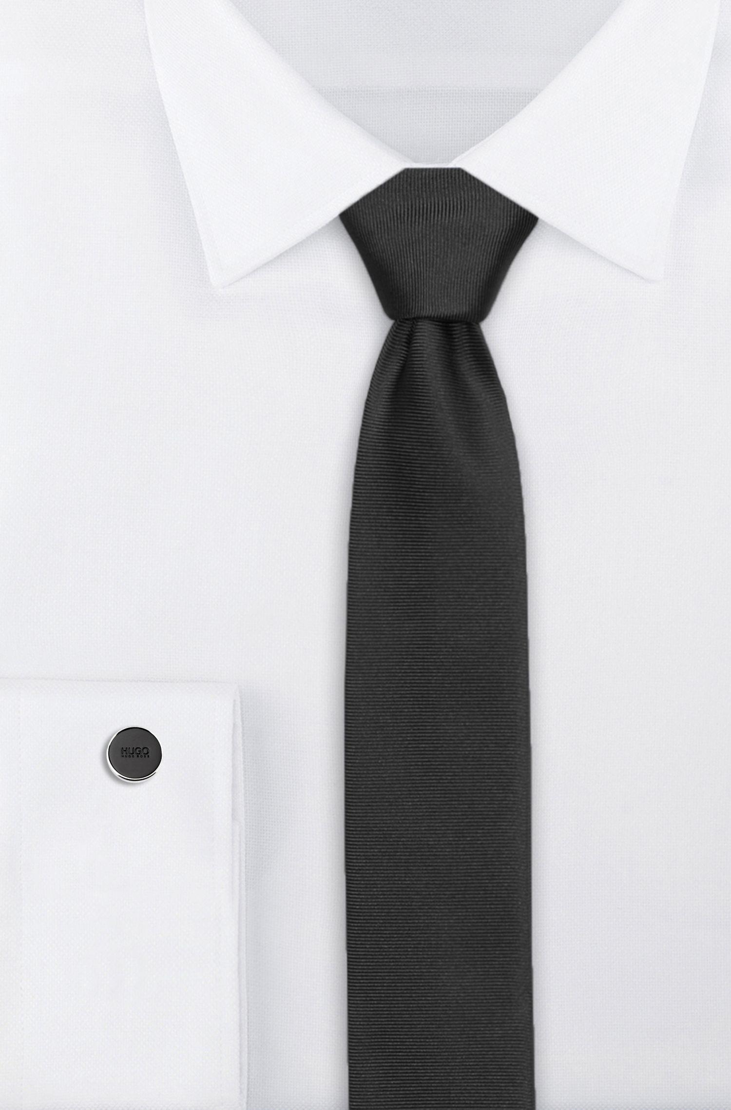 Gemelos redondos con núcleo esmaltado, Negro