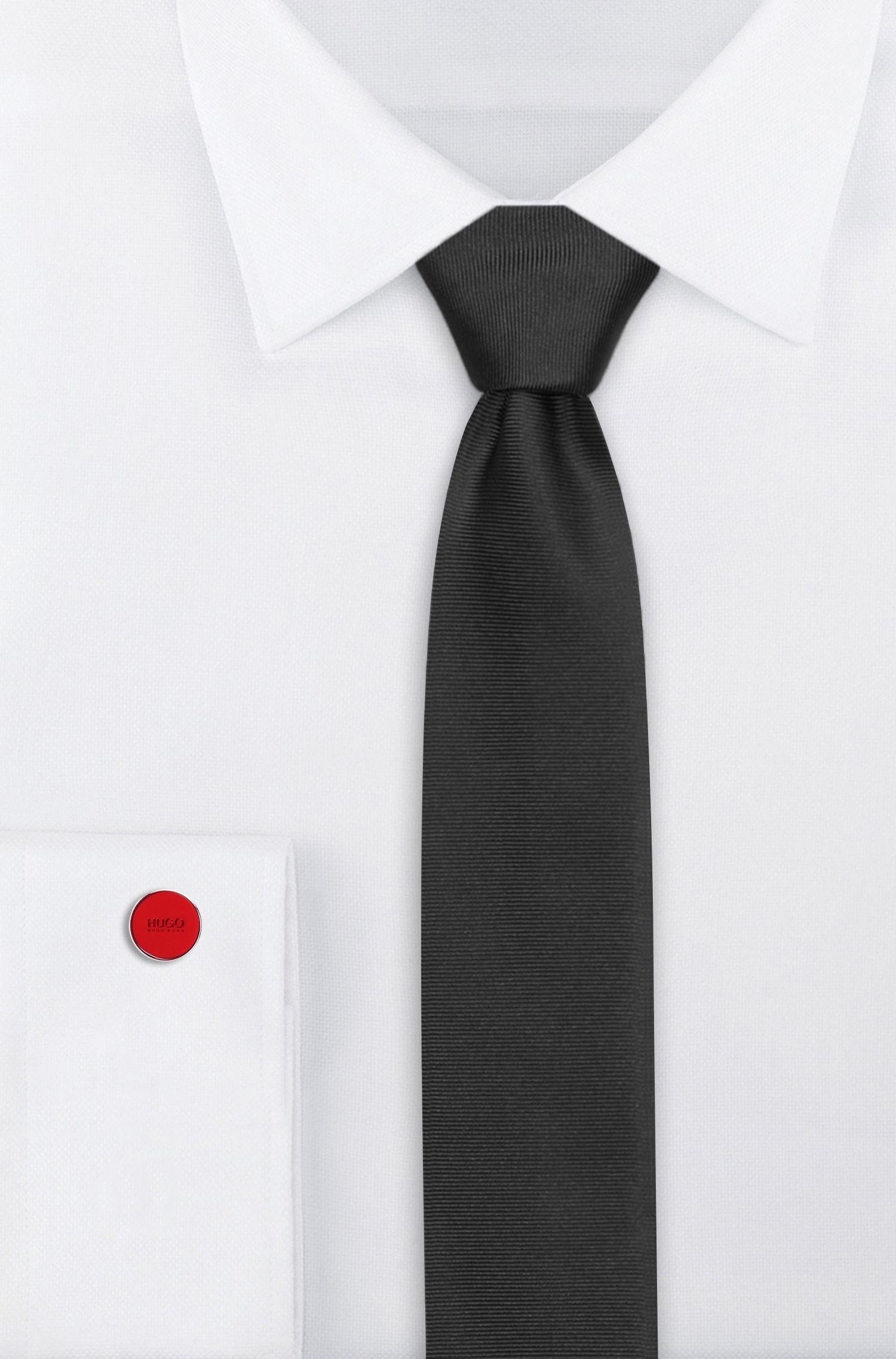 Runde Manschettenknöpfe mit Emaille-Kern, Rot