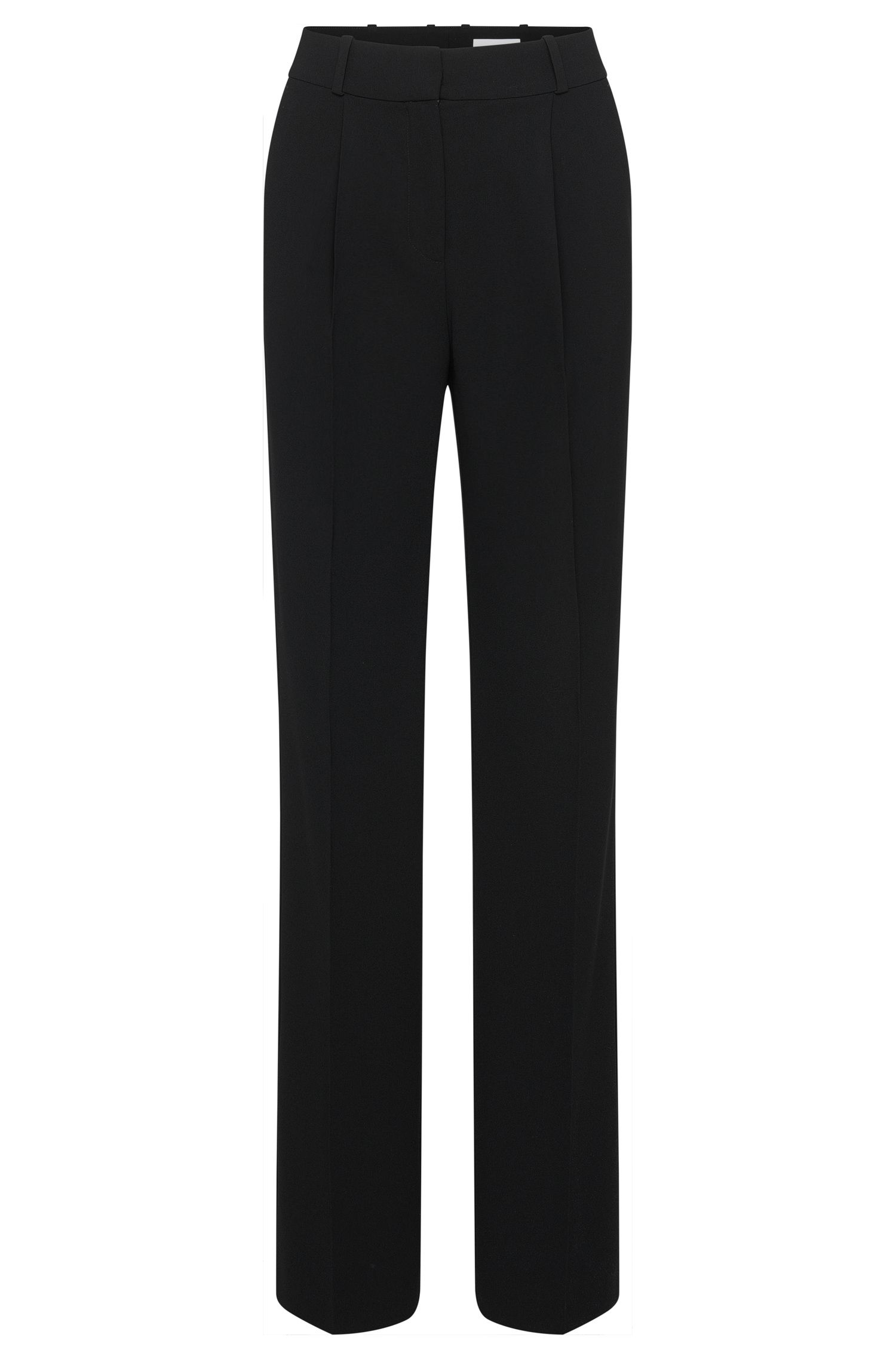 Relaxed-fit trousers with pressed creases: 'Arula'