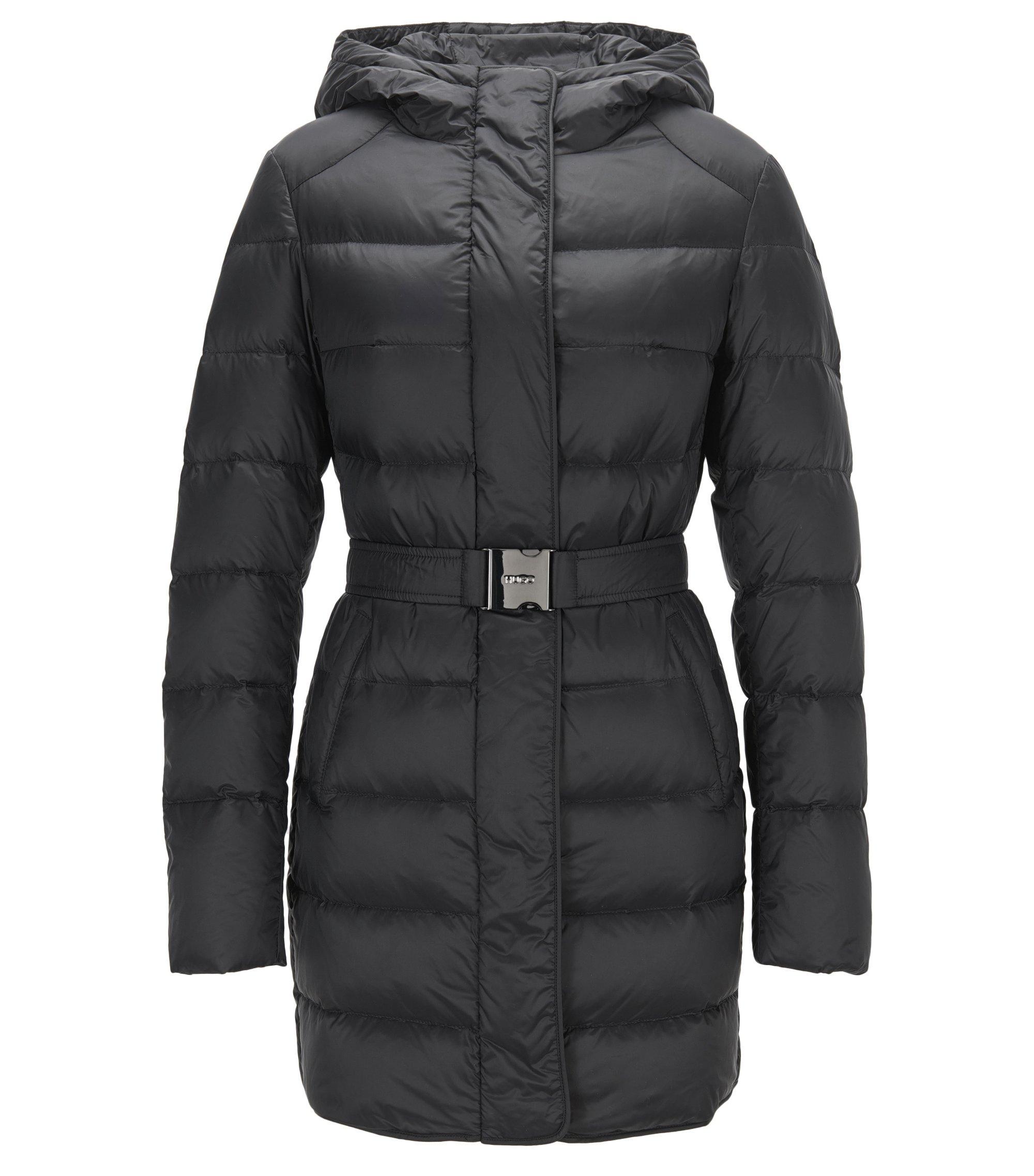 Regular-fit down jacket in water-repellent fabric, Black