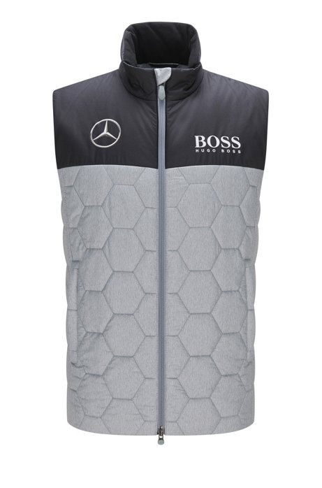 Quilted waistcoat in water-repellent fabric: ´ESP-ATTR-Jest16´ from the Alex Thomson Special collection, Light Grey