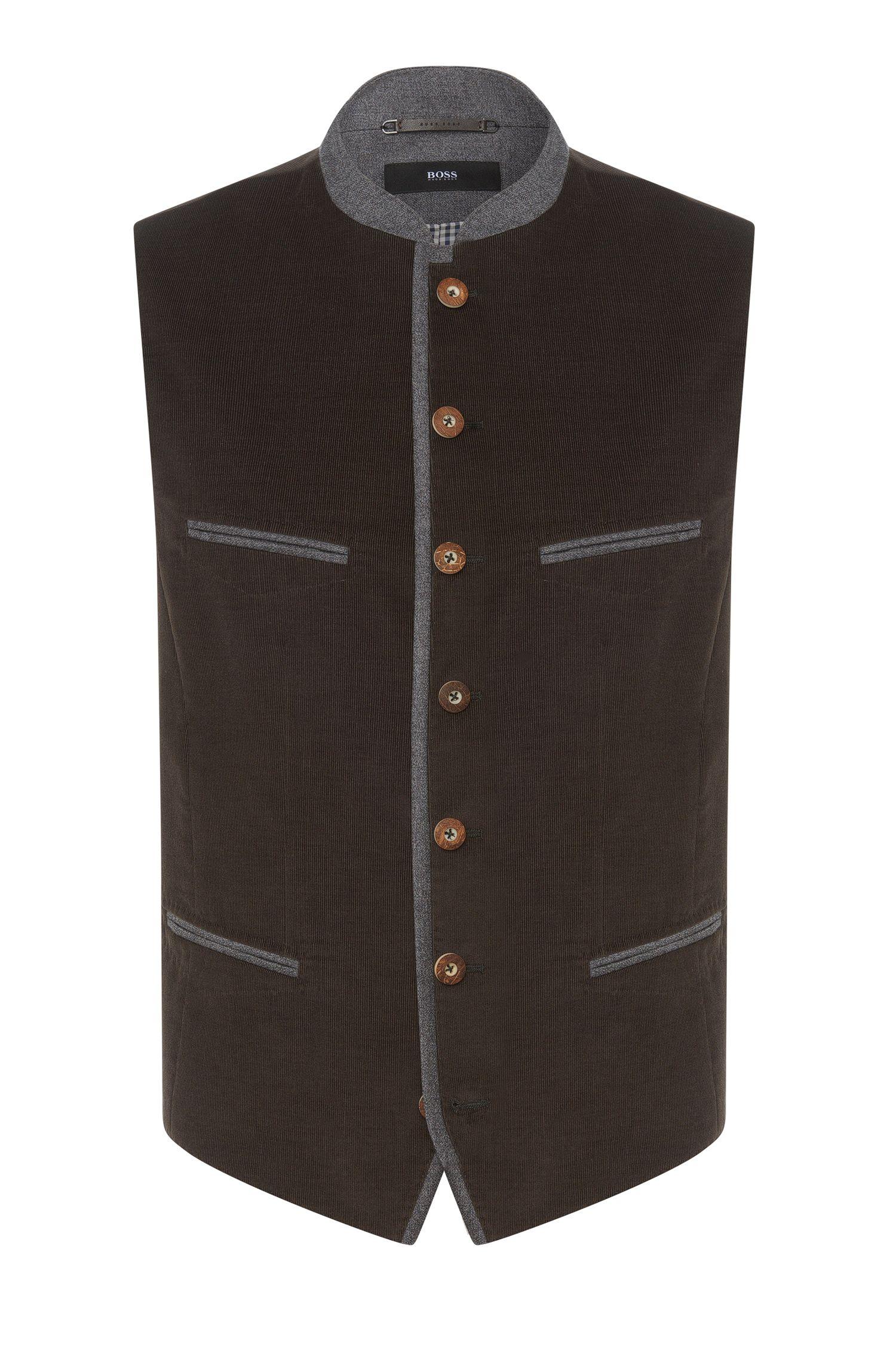 Wiesn & Wasn waistcoat in cotton: 'Korbinian'