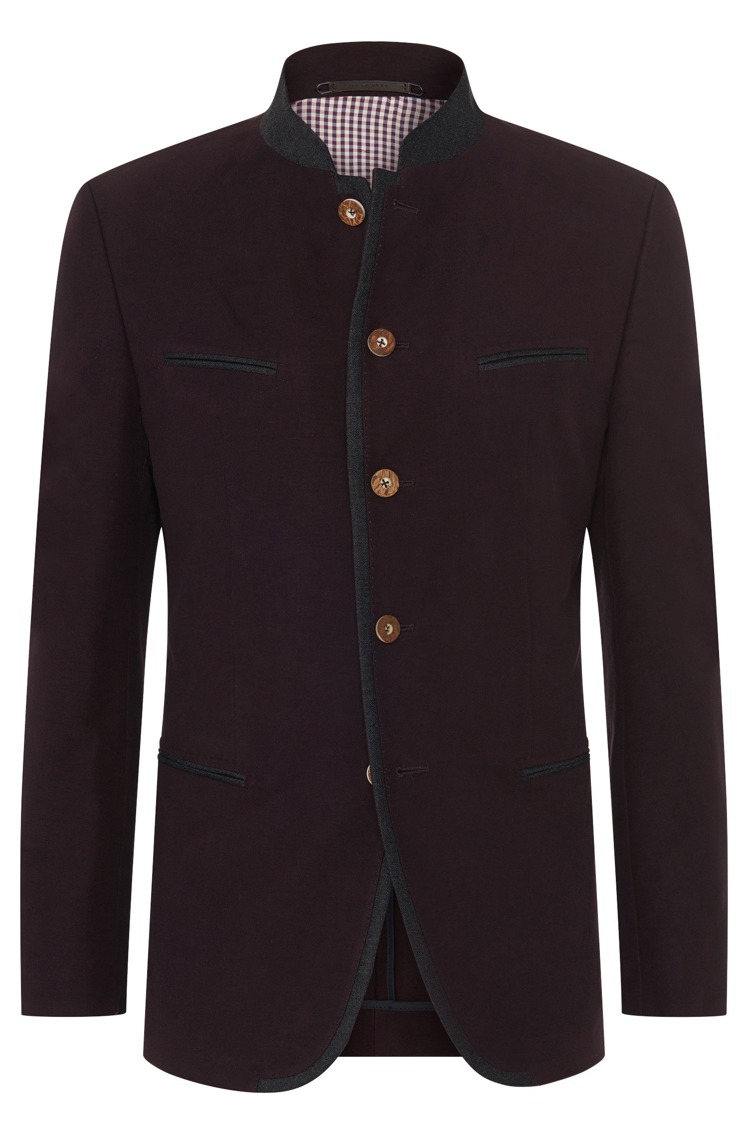 Wiesn & Wasen janker jacket in stretch cotton with elbow patches: 'Maximilian'