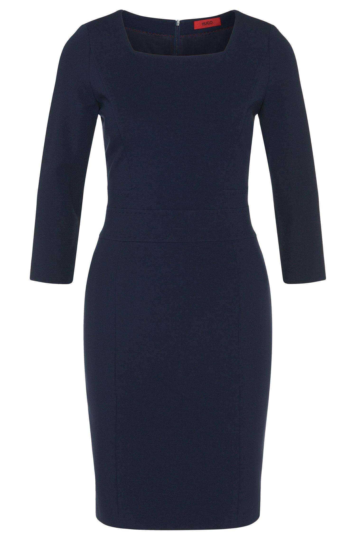 Kleid aus Viskose-Mix mit Karree-Ausschnitt: 'Kenive'