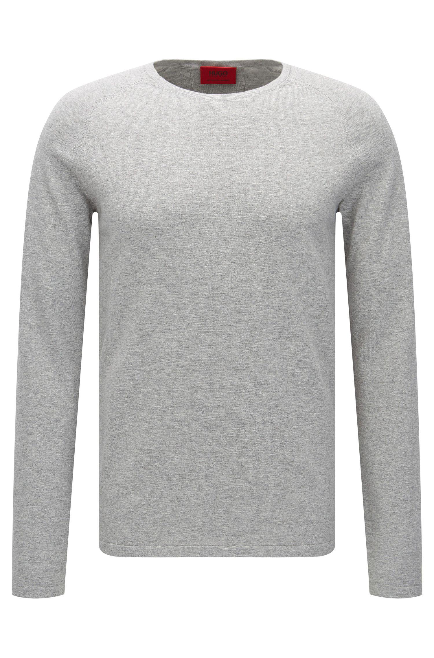 Maglione slim fit in misto cotone con seta e cashmere: 'San Francisco'