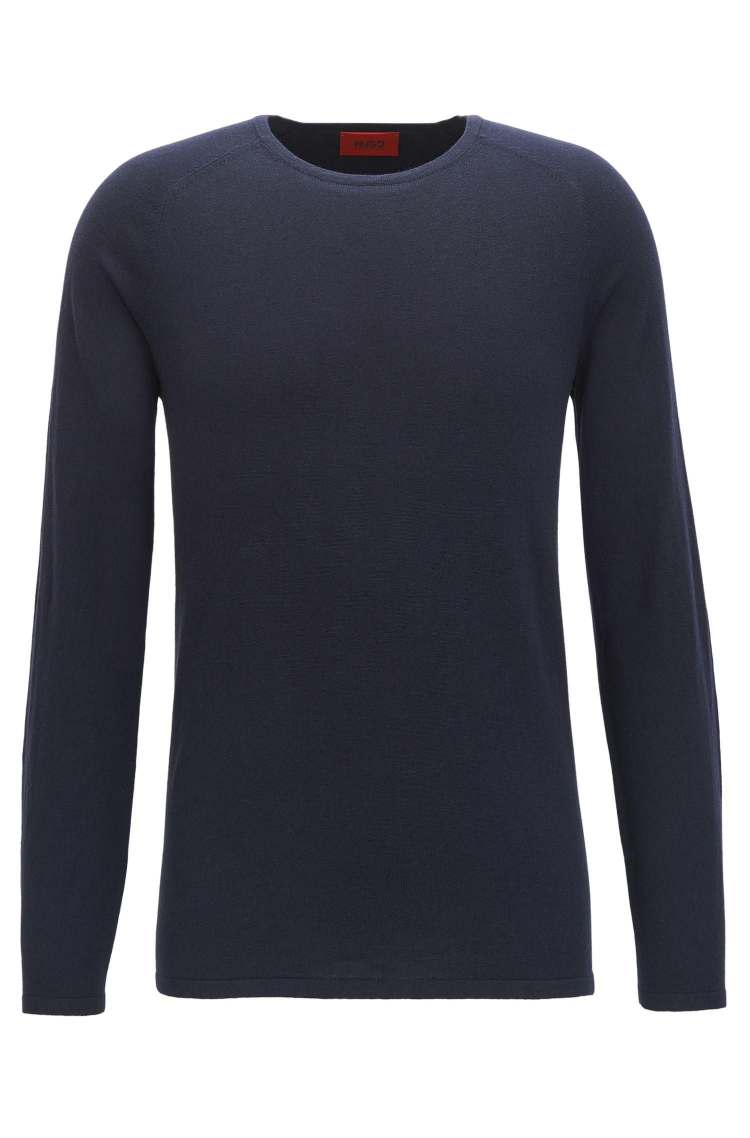 Slim-fit trui van een katoenmix met zijde en kasjmier: 'San Francisco'