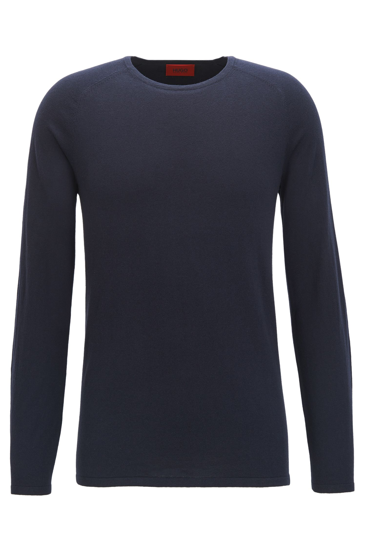 Slim-fit sweater in cotton blend with silk and cashmere: 'San Francisco'