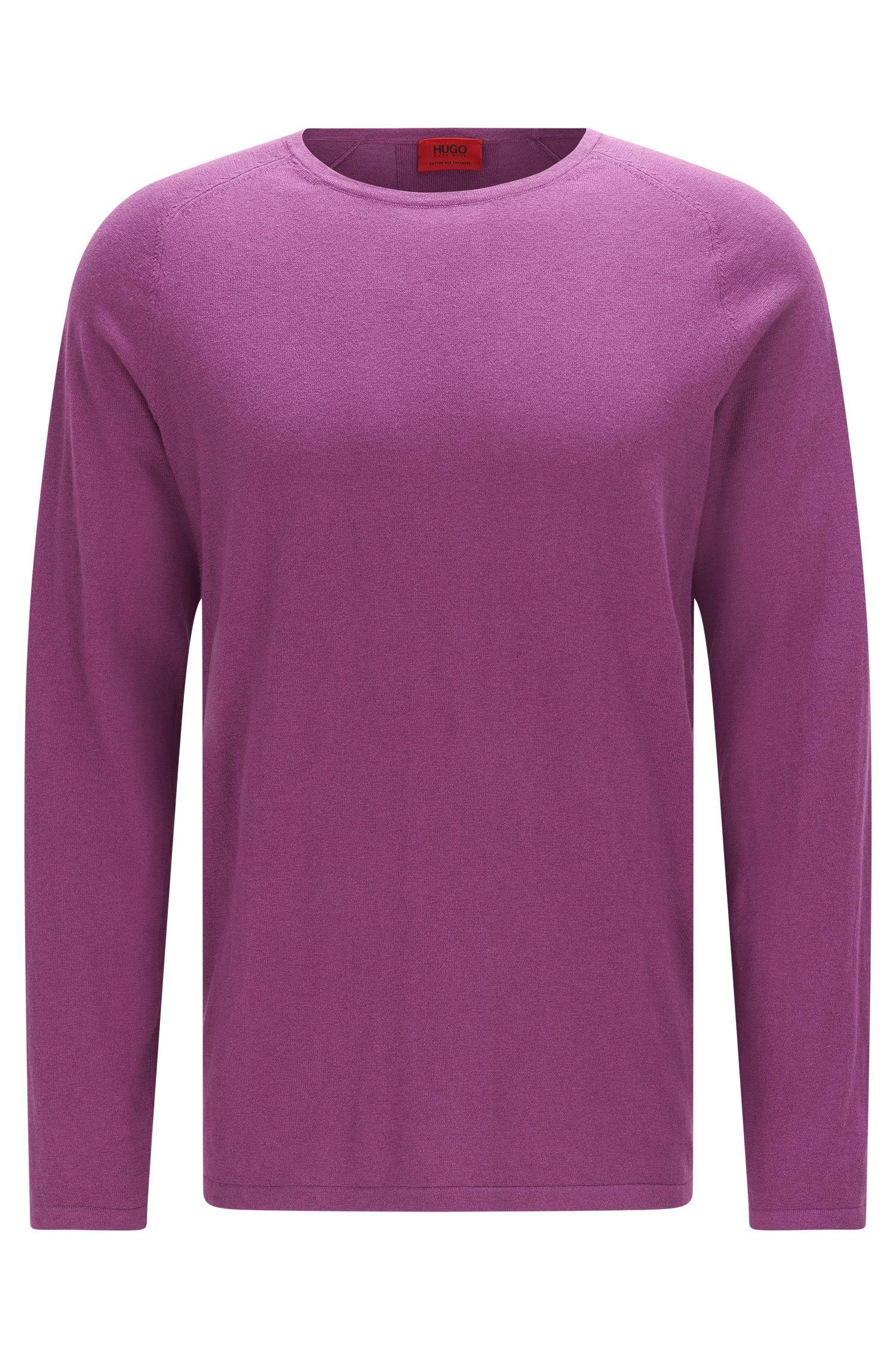 Jersey slim fit en mezcla de algodón con seda y cachemira: 'San Francisco'