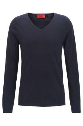 Pullover aus Baumwoll-Mix mit Seide und Kaschmir: 'San Jose', Dunkelblau