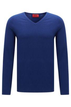 Jersey en mezcla de algodón con seda y cachemira: 'San Jose', Azul
