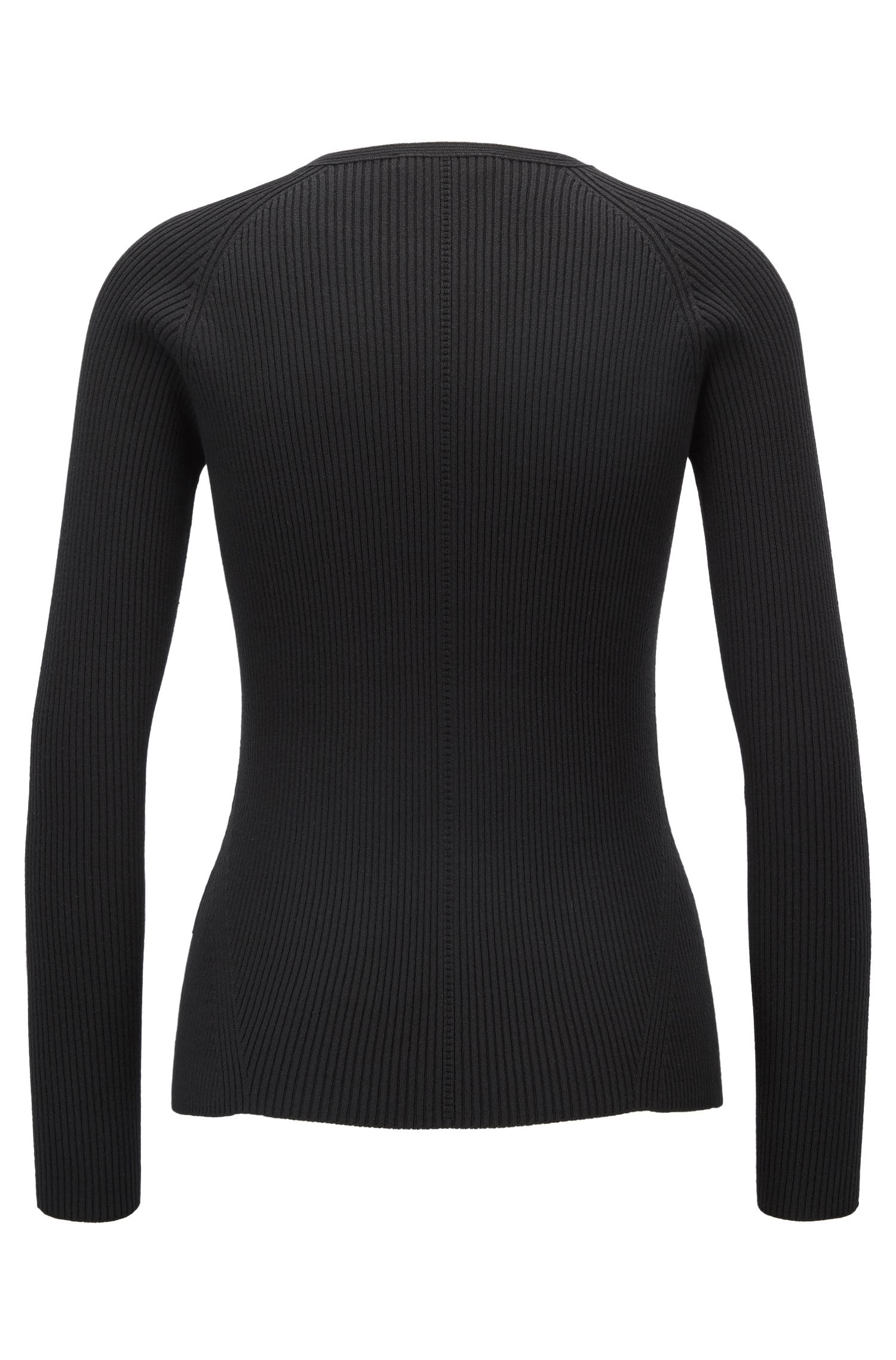 Crew-neck sweater in a textured rib knit