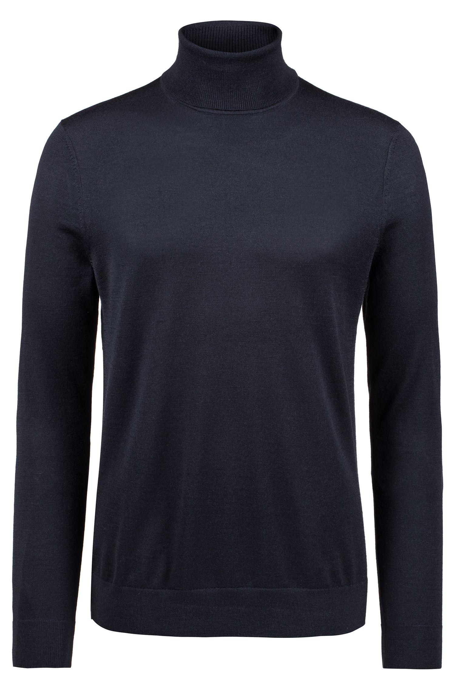 Turtle-neck sweater in a Merino wool blend