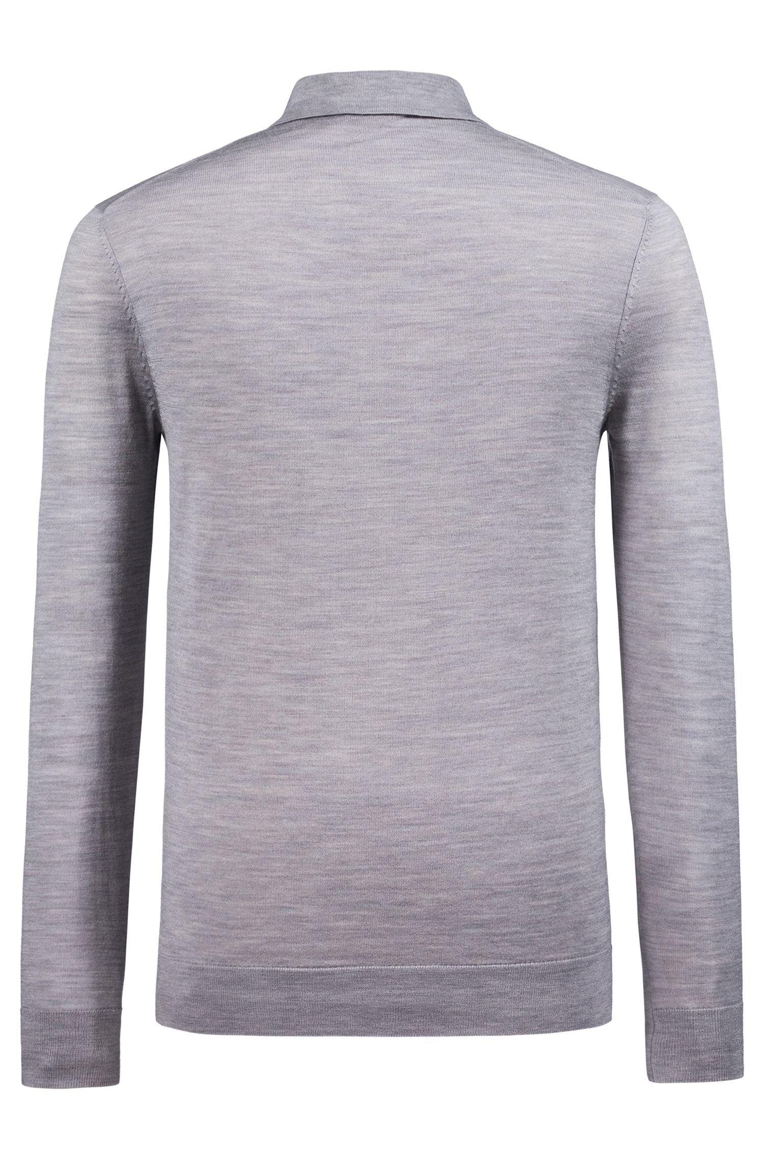 Slim-fit trui van een merinowolmix met polokraag